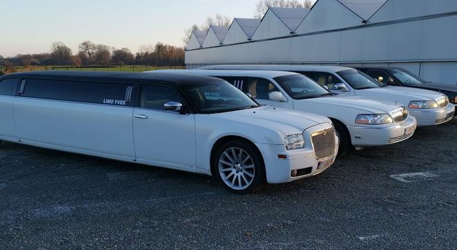 quatre limousines de limousines Yves